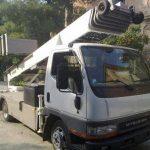 Ανυψωτικό μηχάνημα - φορτηγό.