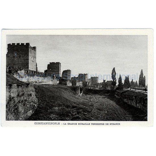Καρτ ποσταλ Κωνστανινούπολη - Μεγάλο τείχος.