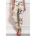 Γυναικείο εφαρμοστό παντελόνι floral.