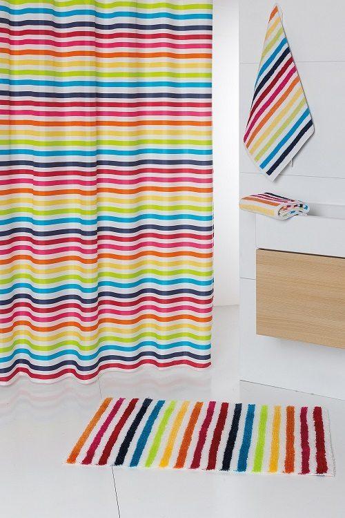 Σετ χαλί, κουρτίνα πετσετάκια μπάνιου.